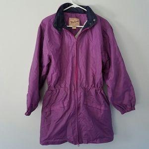 Woolrich purple windbreaker coat size M